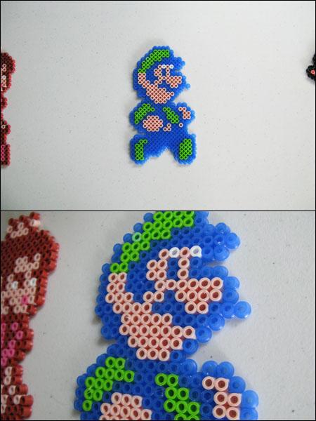 Super Mario 2 Luigi Bead Sprite Magnet